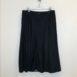 Soft Surroundings Black A Line Skirt, Sz PXL